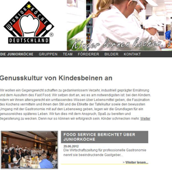 Juniorköche Deutschland [Website, Designs]